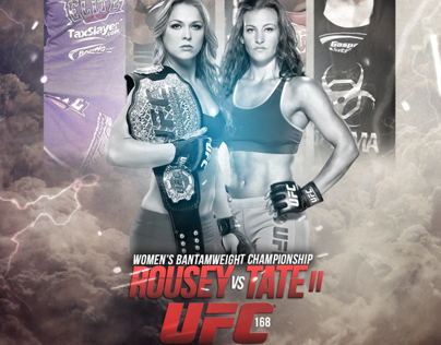UFC 168 Rousey VS Tate 2 - Unofficial Poster