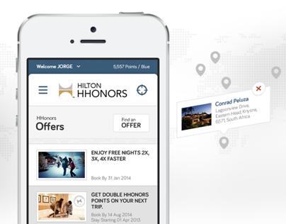 Hilton HHonors Mobile Site