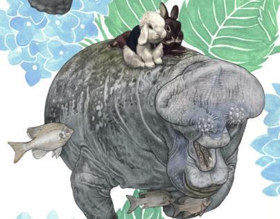 """""""Vegans: Manatees n' Bunnies"""" Archival Print"""