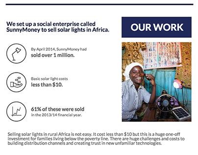 SolarAid Impact Infographics Report