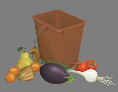 Illustrations - colourful food
