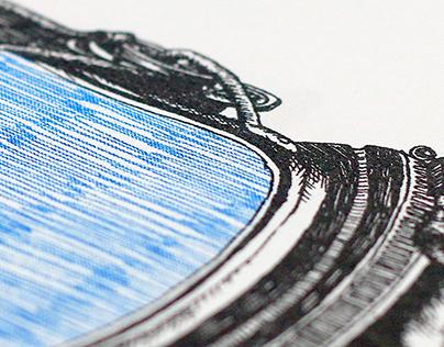 risograph space prints