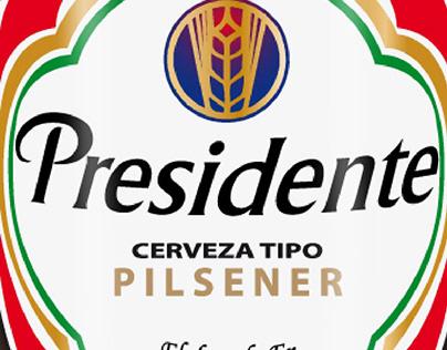 Cerveza Presidente Pequeña Vectorizada