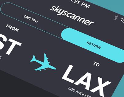 skyscanner  app re-design