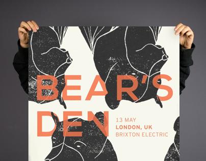 Tour Poster for Bear's Den