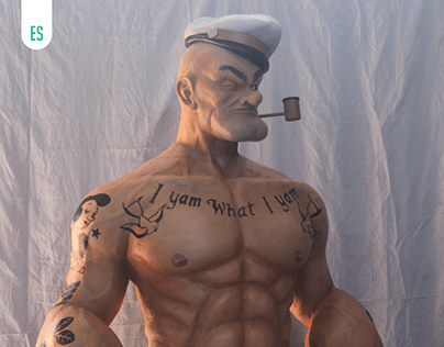 Popeye Realistic Sculpture Life Size