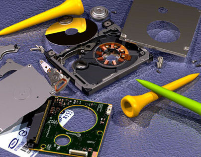 My Microdrive Hard Disk Drive illustrations
