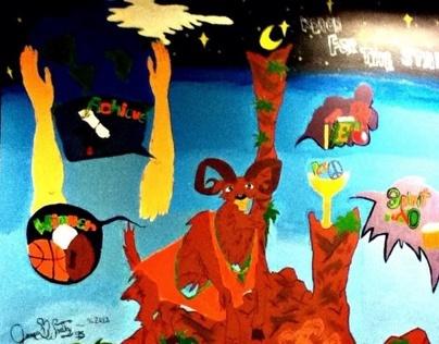 Eastside High School Wall Pride Painting