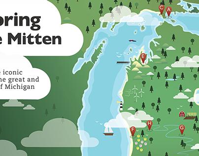 Michigan Icon Map