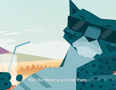 Nimbly, the Cheetah - Short Animated Ad 2