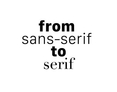 From sans-serif to serif - Jan Tschichold