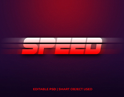 Speed text effect