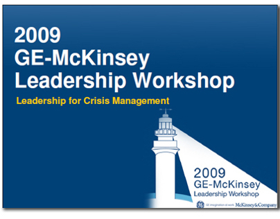 2009 GE McKinsey