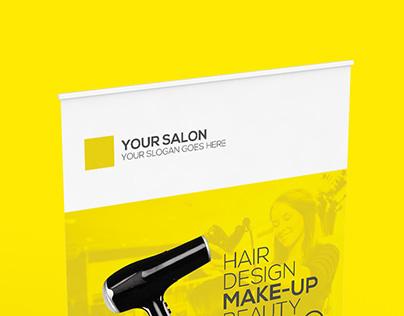 Premium Hair Salon Roll-up Banner