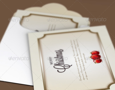 Classic Christmas Greeting Card Template