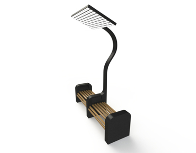 Park Bench Solar Charger