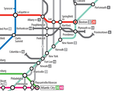 US Interstates as Subway Diagram Posters on Behance