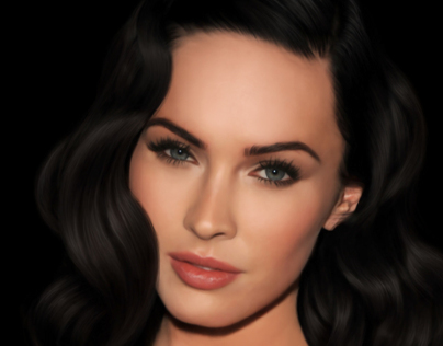 Megan Fox Digital Portrait