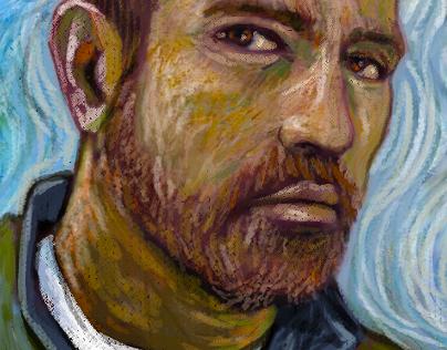 Dan Gogh (Digital Self Portrait)