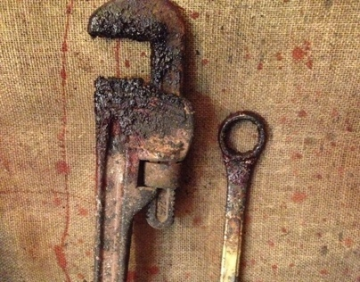 Character props: Bloody wrench