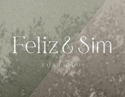 Feliz & Sim - Font Duo