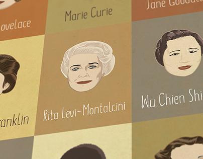 Women of Science - Art Poster