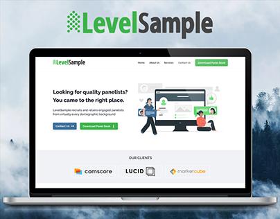 Level Sample - Responsive Website UX/UI Design