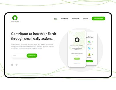Landing page website Ecology browser app