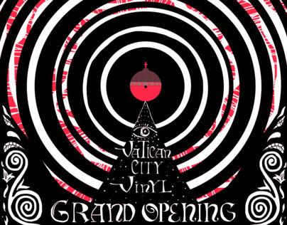 Vatican City Vinyl Grand Opening Flyer