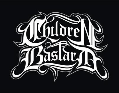 lettering, children bastard band