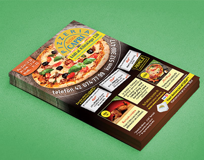 Flyers for Pizzeria CAPRI