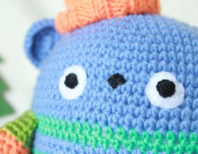 Crocheted big childsafe toy Matsuke