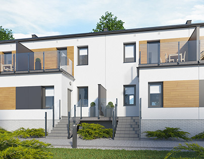 "Terraced house ""S1"" 3D model + renders"
