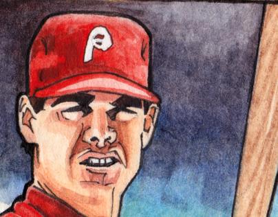 Hand made Dale Murphy Baseball Card