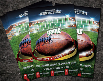 Football Game PSD Flyer