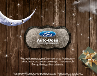 FORD AUTO-BOSS - CHRISTMAS CARD