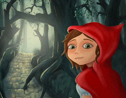 Little Red Riding Hood // Book Cover Illustration