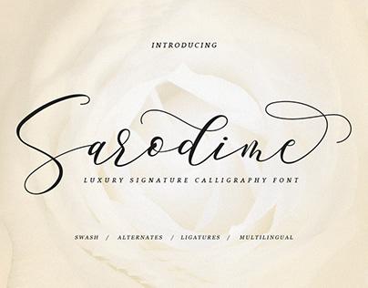 Free Sarodime Calligraphy Font