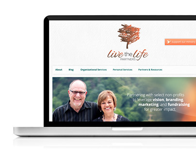 Live the Life Partners Website Design