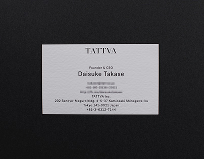 Business Card for TATTVA