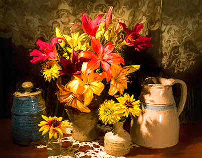 Still Life Photo-paintings and Photographs