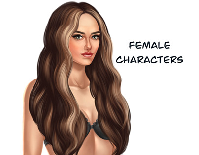 Female characters for mobile game