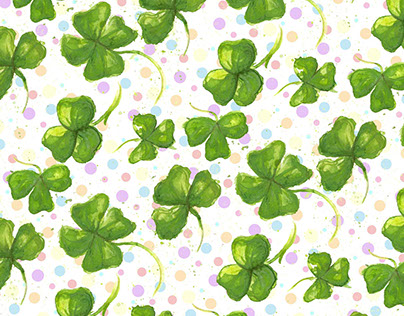 Clovers and Rainbows Repeat Pattern