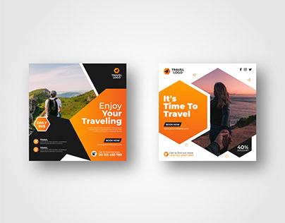 Travel Agency Social Media Post Template vol- 4