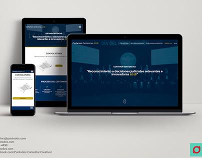 Diseño Web | Certamen Sentencias 2018