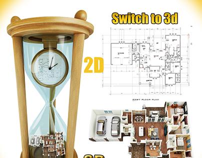 Switch to 3d floor plan