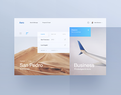 Aero - Airline Flight Booking UI/UX