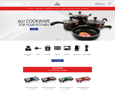 eCommerce Website Development for Noah Cookware