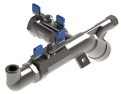 Simplified Mixing Valve with Integrated Strainer