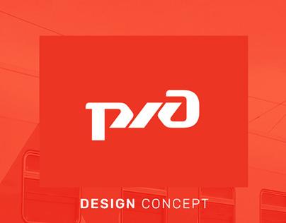 UX/UI Design concept web site rzd.ru